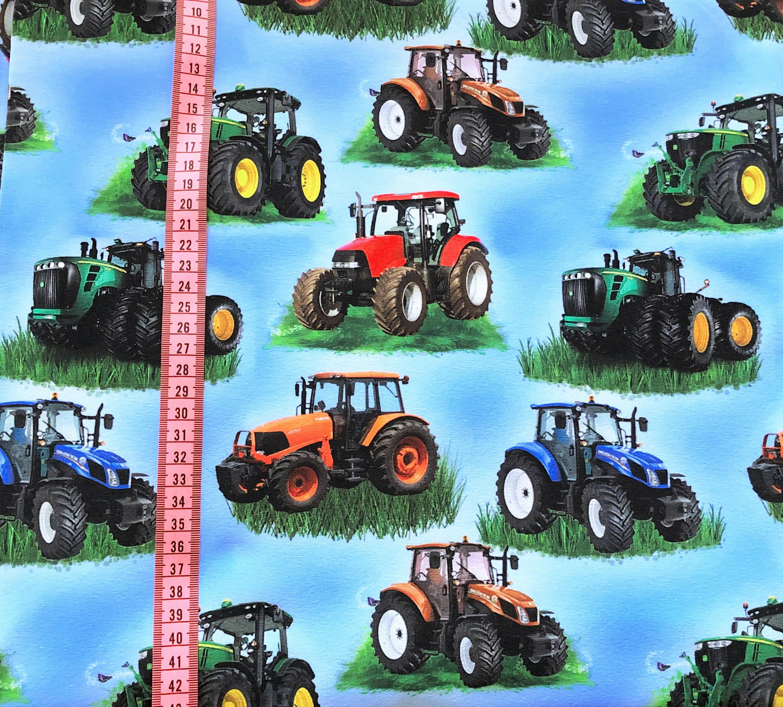 Traktor, Blå #448, eko/GOTS