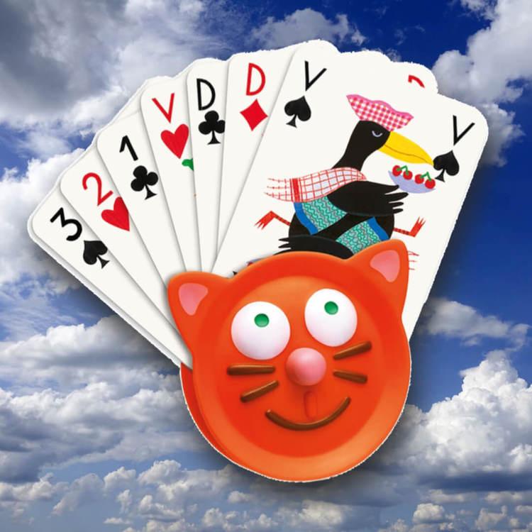 Hjälpmedel för att hålla korten från Djeco