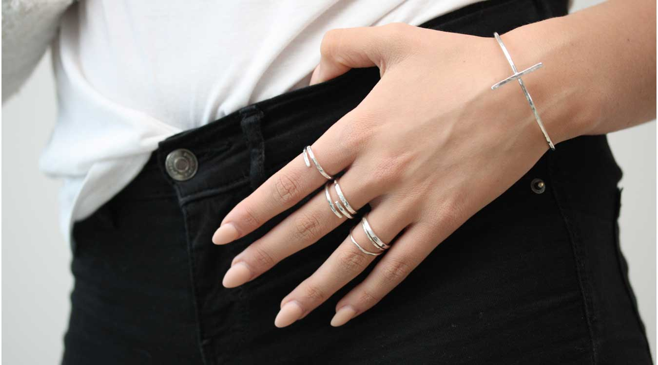 MNOP smycken återvunnet silver