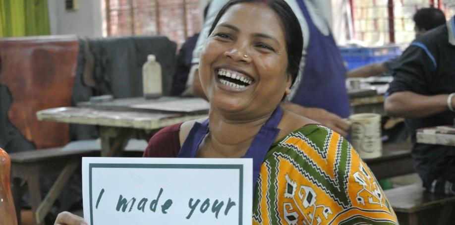 Naturgarvat läder, fair trade.