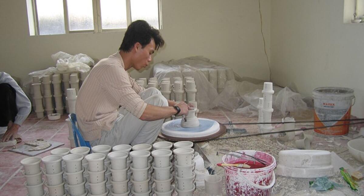 Craft Liink Vietnam, Keramiktillverkningen. Foto: EZA Fairer Handel.