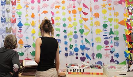 Lamali, Nepal, på Mässan Maison et Objet i Paris