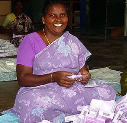 Tvål från Palam Rural Centre i Indien, Veerapandi näraTirupur, Foto: GEPA THe Fair Trade Company