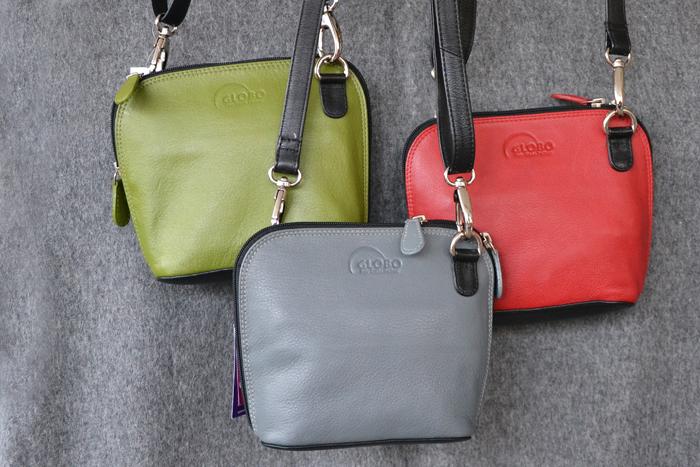 Etiska accessoarer i läder på Världbutiken Klotet Lund från Globo Fair Trade Partner.