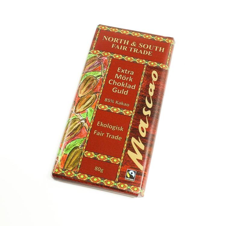 Mascao Extra Mörk Choklad Guld, ekologisk