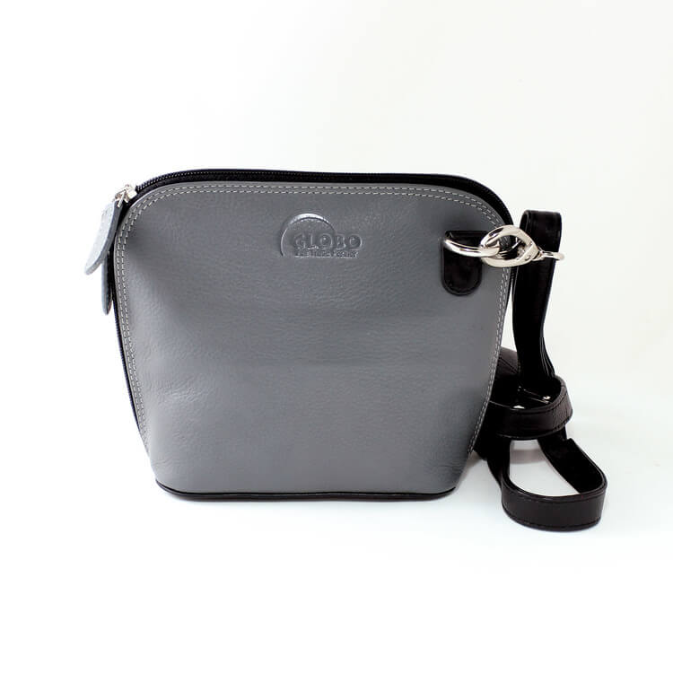 Axelremsväska nappa, grå/svart