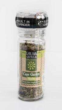 Kryddor Cape Garden Herbs från Sydafrika. En kryddblandning med smak av Sydafrikas vingårdar. Fair Trade.
