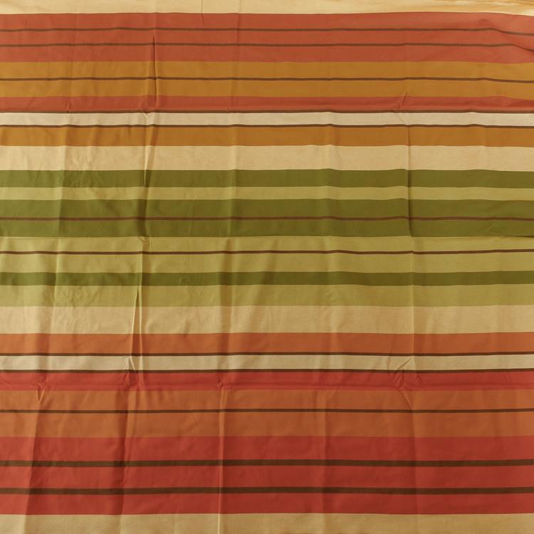 Stabil hängmatta i handvävd bomull från El Salvador. Till en person, max 120 kg. Fair Trade. Beige-tegelröd-grön färg.