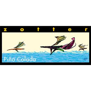 Zotter Pina Colada ger en känsla av paradisöarnas klassiska  karibik-choko-drinkmix. Handgjort, exklusiv, ekologisk, Fair Trade