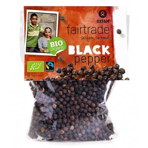 Ekologisk svartpeppar i helkorn från Sri Lanka. Refillpåse. Fair Trade.