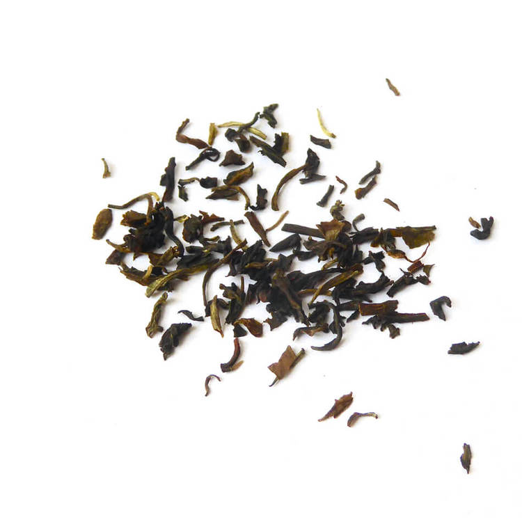 Ett teprov från Earl Grey Premium Darjeeling. Ekologiskt och Fair Trade.
