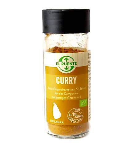 Söt & aromatisk curryblandning i glasbehållare. Originalrecept från Sri Lanka. Fair Trade & ekologisk.