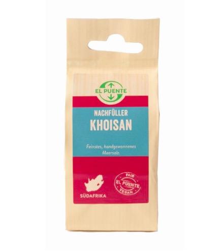 Khoisan, havssalt, flingor, grovsalt. Ekologiskt & naturligt rikt på mineraler & spårämnen. Milt & fylligt. Fair Trade.