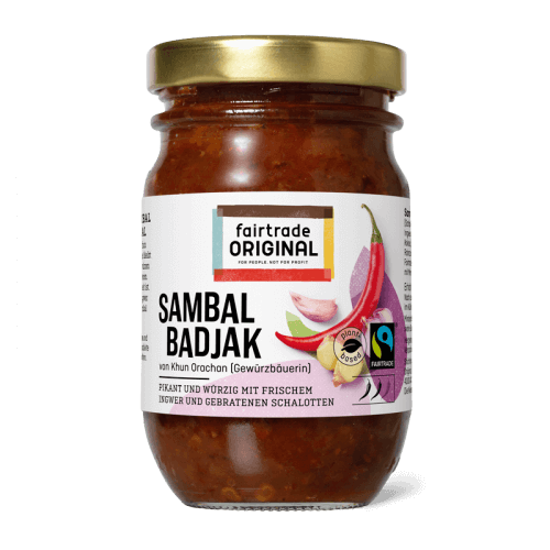Sambal badjak, Fairtrade