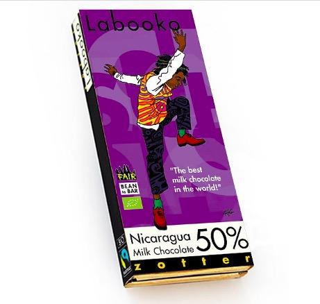 Zotter Labooko Nicaragua mjölkchoklad med 50 % kakao. Bean to Bar - välbalanserad, ljuvligt, handgjord, fair & ekologisk.