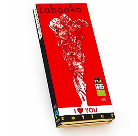 Zotter Labooko 'I Love You', mörk choklad & hallon, ekologisk