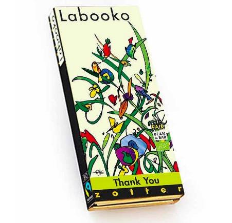 Zotter Labooko 'Thank You', mjölkchoklad kaffe / karamell, ekologisk