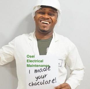 Fairafric mörk choklad, 70 % med kakaonibs, I made your chocolate. Ghana, Fair Trade.