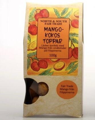 Mango-kokos toppar, ekologiskt godis