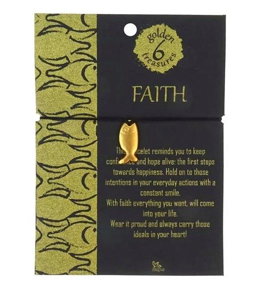 Armband 'Faith' med fisk (ichtys) som smycke, gulddouble 24 karat. Fairmined i Colombia. Fair Trade.