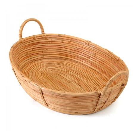 Korg eller bricka 'Cane', med handtag, naturfärg