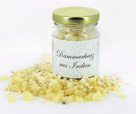 Naturligt dammarharts som reningsrökelse, med fräsch doft av citron. Skapar god stämning. Fair Trade från Indien.