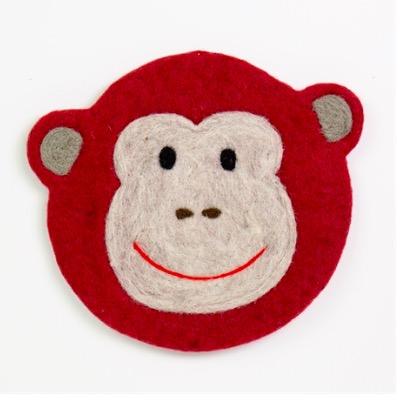 Tovad sittdyna till barn, motiv Glad apa (monkey). Afroart.