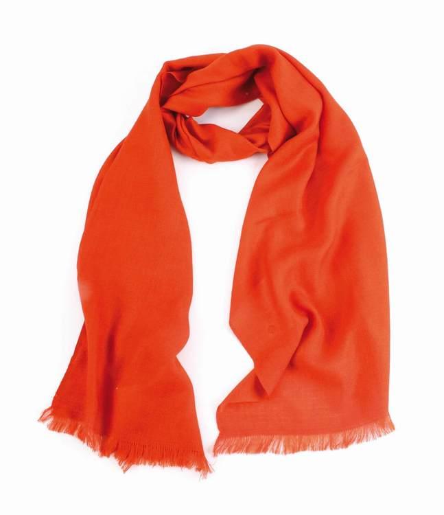 Sjal, scarf, kaschmir/siden, silke, orange