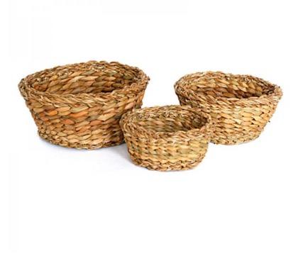 Korgar 'Hogla', set med tre storlekar, runda