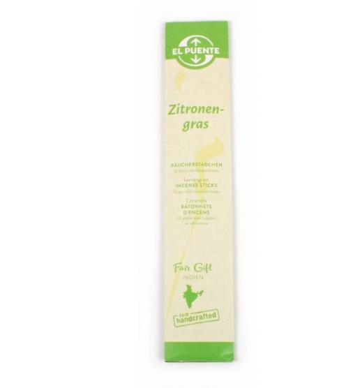 Rökelsestickor Citrongräs, naturliga & giftfria