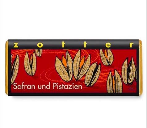 Zotter 'Saffran & Pistage', mjölkchoklad, ekologisk