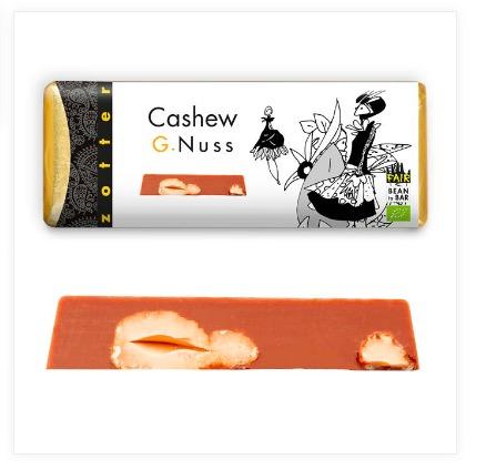 Zotter 'Cashew G. Nuss', mjölkchoklad med cashew, ekologisk