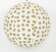 Lampskärm 'Big Dot', 80 cm, beige-vit, Afroart