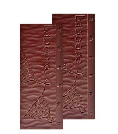Zotter Labooko Easter Bunny är två mörka chokladsorter av utsökt kvalitet. Underbara kakaoupplevelser. Guatemala 75%, Peru Chuncho 72%. Ekologisk & Fair Trade.