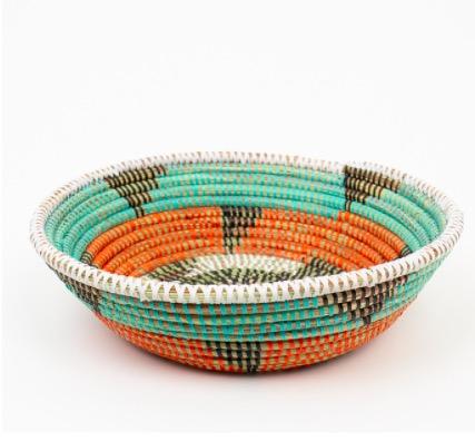 """Brödkorg """"Sene"""", rund med mönster, 25 cm"""