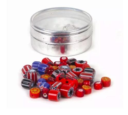 DIY, Smyckeset, pärlor glas & keramik, röda färger