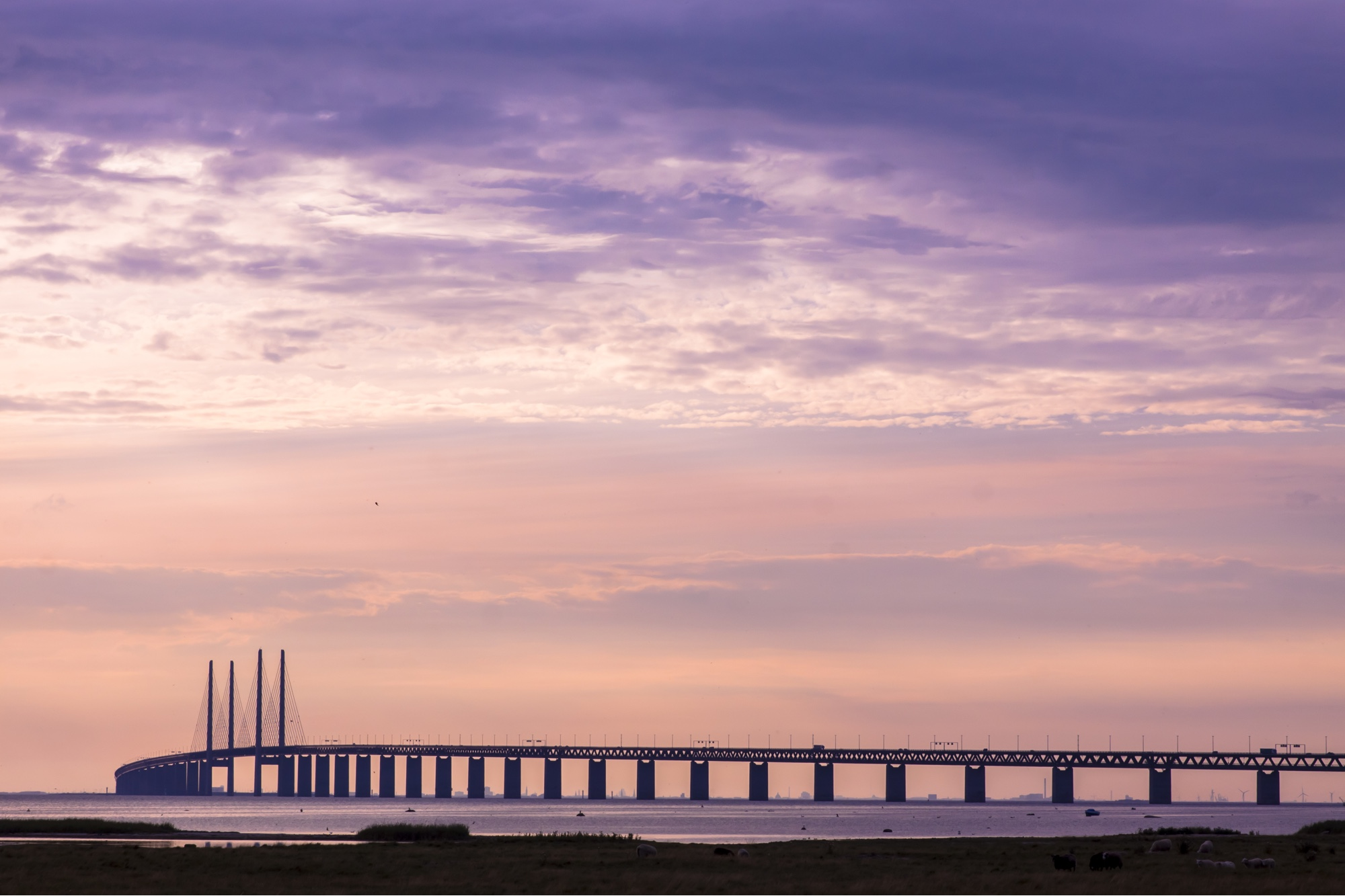 Oresundsbron. The bridge from Copenhagen to Malmo