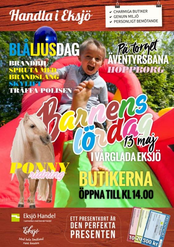 Barnens lördag i Eksjö 13 maj