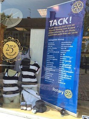 Rotarygolfen uppskyltad på Näckrosen