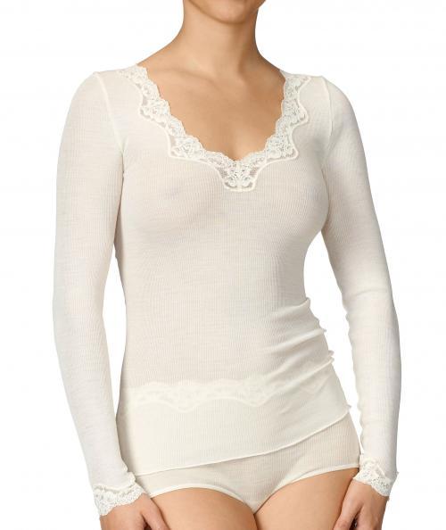 Calida topp lång ärm ull/silke Richesse 15036 -