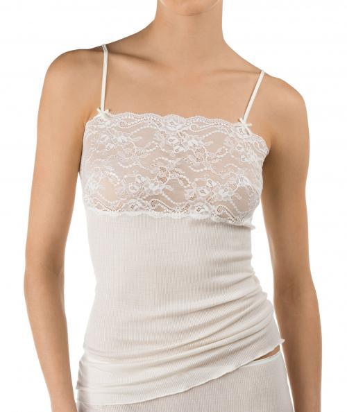 44053827 Calida linne ull silke Richesse Lace 11891 / 892 - Näckrosen Underkläder