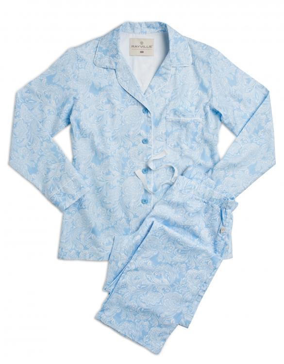 Rayville pyjamas Pattern Paisley / sky blue