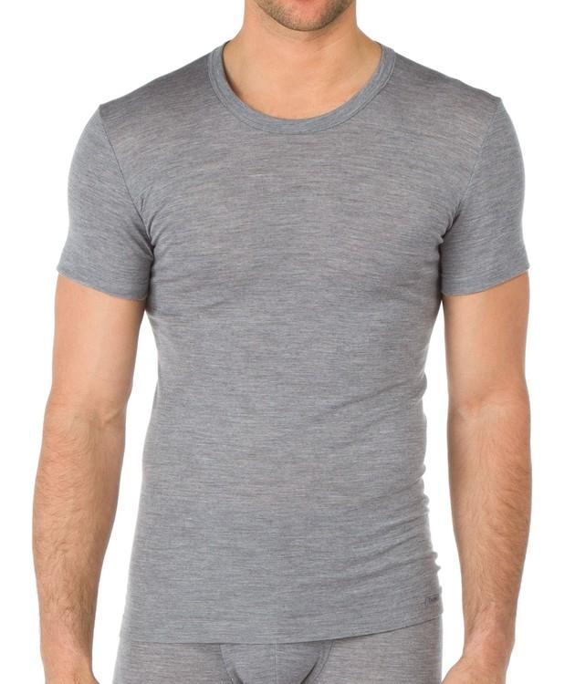 Calida kortärmad tröja i ull och silke för herr 14060