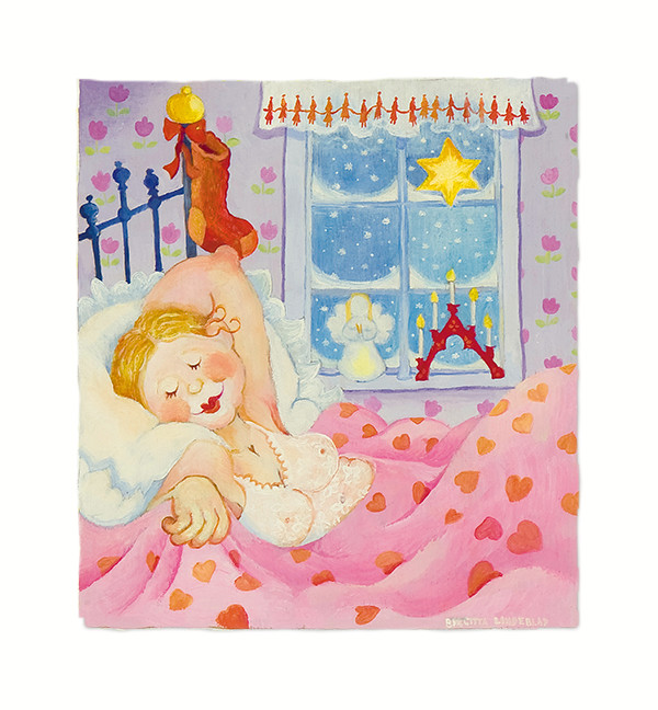 Birgitta Lindeblads kort Juldagsmorgon glimmar