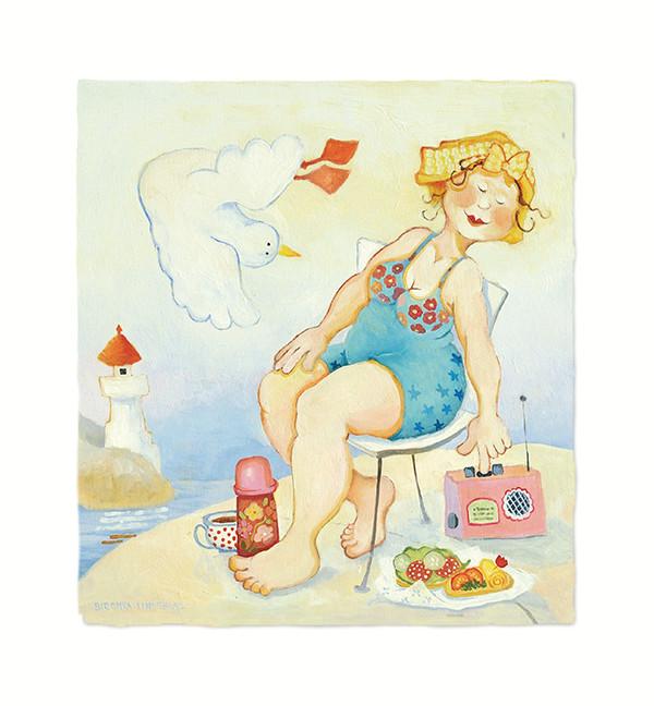 Birgitta Lindeblads kort Sommar sommar