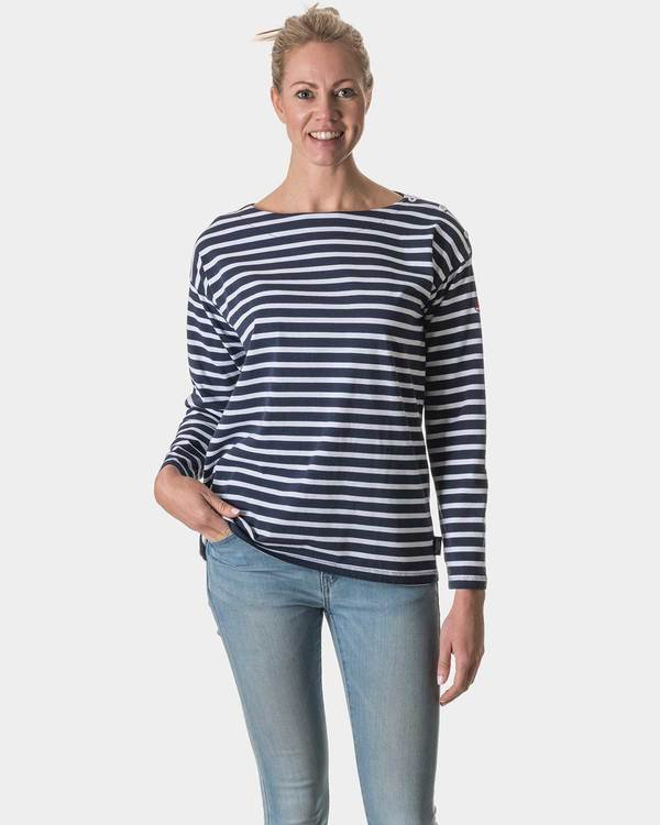 Holebrook Boatneck 712511 navy/white wide stripe