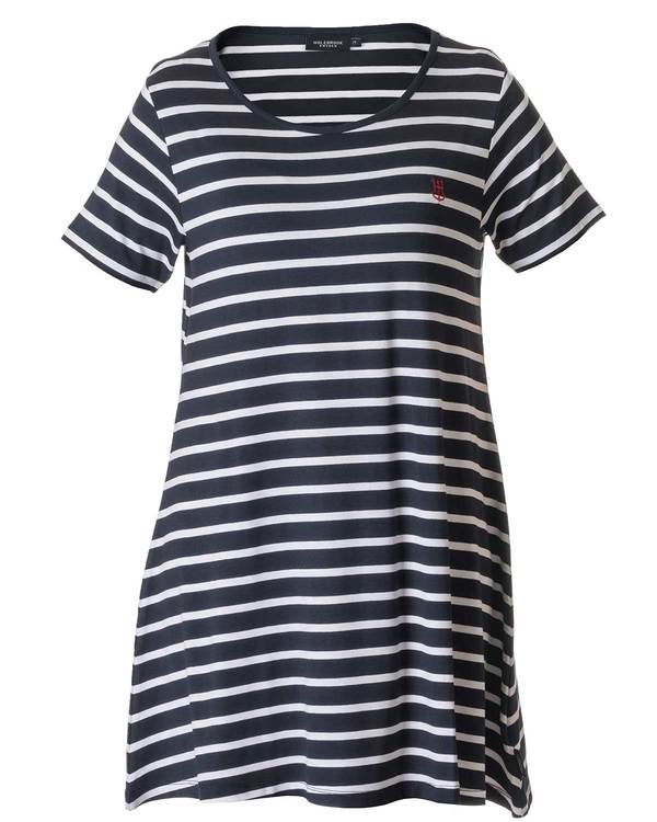 Holebrook Malva Tee Dress 712607 navywhite wide stripe