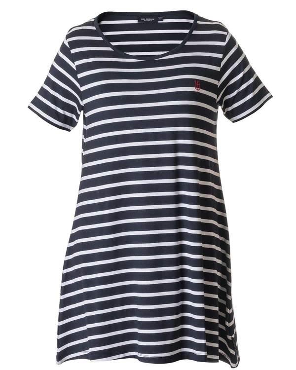 Holebrook Malva Tee Dress 712607 navywhite wide stripe