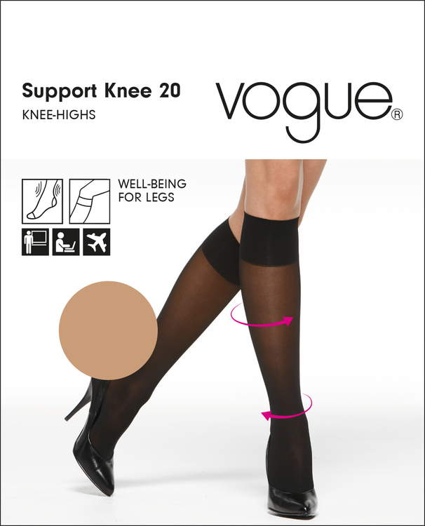 Vogue Support 20 den knä 33400