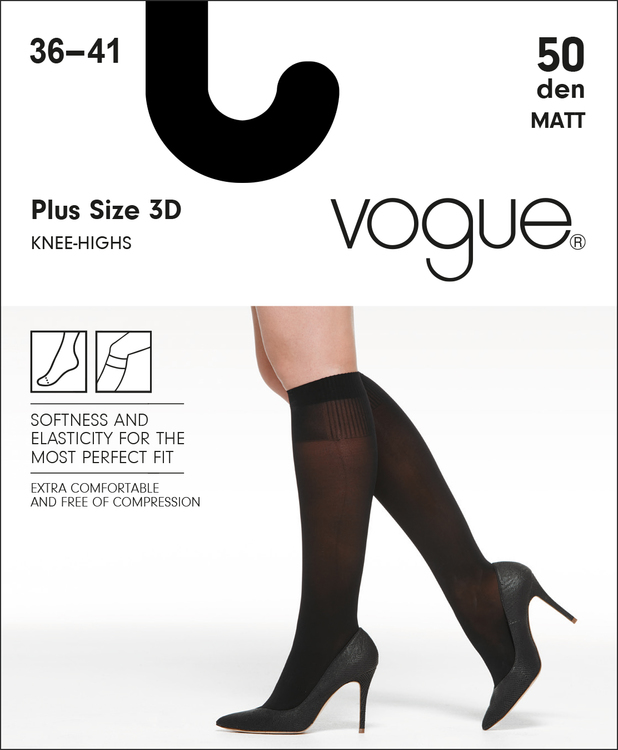 Vogue 50 den knästrumpa Plus size 95555